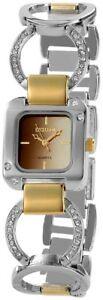 【送料無料】腕時計 レディースブラウンゴールドシルバーラインストーンアナログメタル×excellanc damenuhr braun gold silber strass analog metall quarz x152517000016