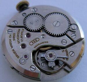 【送料無料】腕時計 グリーンgruen 422 watch 17 jewels movement for part