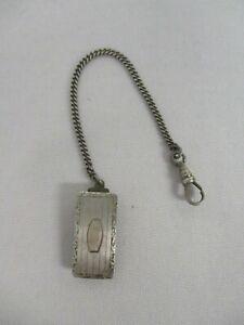 【送料無料】腕時計 アンティークスターリングシルバーフォブモノグラムantique knothe sterling silver watch fob ~ not engraved, no monogram