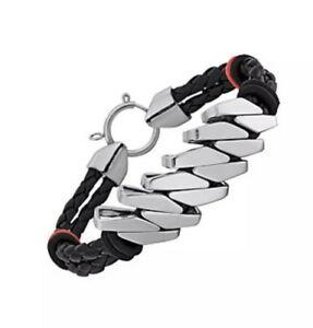 【送料無料】腕時計 スチールレザースライドリンクブレスレットinvicta 5965 9 elements steel and leather sliding link bracelet rare