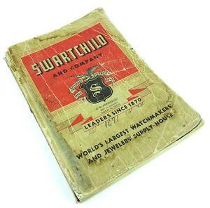 【送料無料】腕時計 ビンテージスワルトウォッチメーカーカタログvintage swartchild amp; company watchmakers jewelers supply parts catalog 1951