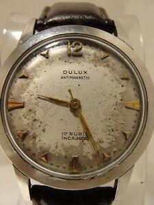 【送料無料】腕時計 マニュアルmens dulux manual wind, 17 jewel movement watch
