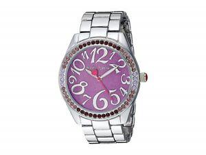 【送料無料】腕時計 ジョンソンシルバートーンブレスレットボックスbetsey johnson silver tone bracelet purple glitter watch bj00048290 nwt box
