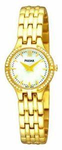 【送料無料】腕時計 パルサーステンレススチールクリスタルアクセントウォッチpulsar womens goldplated crystal accented stainless steel watch pegf22