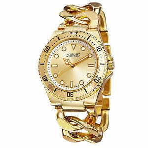 【送料無料】腕時計 シュタイナースイスクオーツゴールドトーンチェーンリンクウォッチ womens august steiner as8079yg swiss quartz goldtone chain link watch