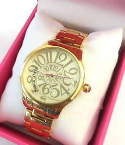 【送料無料】腕時計 ジョンソンゴールドトーンブレスレットスワールクラシックボックスbetsey johnson gold tone bracelet swirl classic watch 33mm bj0023302 nwt box