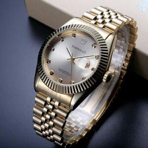 【送料無料】腕時計 メンズゴールドトップリアルオビドスクロック