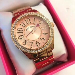 【送料無料】腕時計 ジョンソンローズゴールドトーンブレスレットクリスタルピンクウォッチボックスbetsey johnson rose gold tone bracelet crystal pink watch bj00048116 nwt box