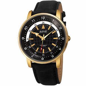 【送料無料】腕時計 シュタイナーハンドクォーツムーブメントレザーストラップウォッチmens august steiner as8213ygb three hand quartz movement leather strap watch