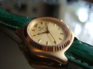 【送料無料】腕時計 チタンゴールドメッキフィートシャークストラップwomens titan gold plated orca datejust 814yda 30m100ft watch shark strap