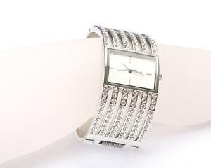 【送料無料】腕時計 シルバーストーンラインストーンブレスレットhenley silver tone and rhinestone bracelet watch