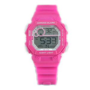 【送料無料】腕時計 ピンクグラフィカルデジタルorologio digitale da ragazza rosa cronografo sveglia luce ideale per palestra