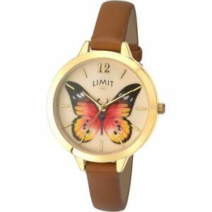 【送料無料】腕時計 シークレットガーデンブラウンウォッチストラップlimit secret garden butterfly gold plated brown strap wrist watch 627573
