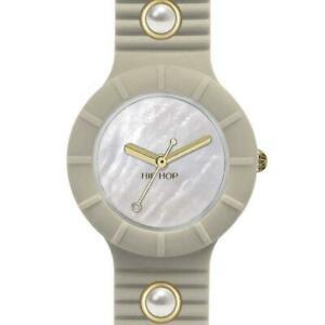 【送料無料】腕時計 ドナヒップホップシリコンベージュゴールドパールorologio donna hip hop pearls hwu0495 small 32mm silicone beige gold perle