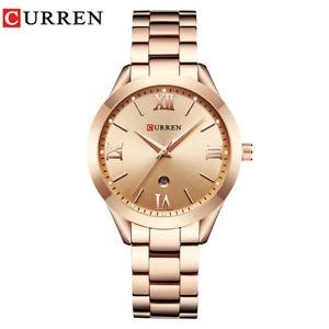 【送料無料】腕時計 ローズゴールドウォッチクォーツレディーストップラグジュアリーウォッチcurren rose gold watch women quartz watches ladies top luxury wrist watch g