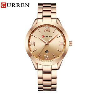 【送料無料】腕時計 ローズゴールドウォッチクォーツレディーストップワcurren 9007 rose gold watch women quartz watches ladies top luxury wrist wa