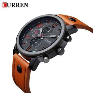 【送料無料】腕時計 カジュアルcurren casual men watches luxury leather men military wrist watches men spor