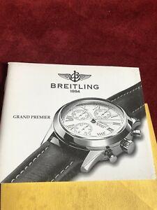 【送料無料】腕時計 グランドプレミアリブレットマニュアルヴィンテージbreitling grand premier libretto manuale istruzione rareee vintage watch