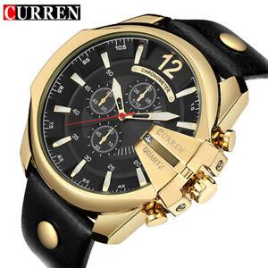 【送料無料】腕時計 ゴールドメンズスポーツブランドクオーツデザイナーcurren gold mens sports quartz designer watch brand luxury quartz gifts for him