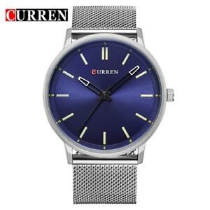 【送料無料】腕時計 ファッションスポーツステンレススチールluxury curren men fashion sport quartz watches stainless steel gifts for him dad