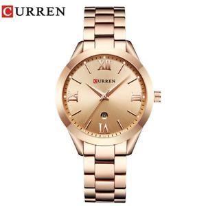 【送料無料】腕時計 ラグジュアリーゴールドスチールクオーツウォッチ…jewelry gifts for womens luxury gold steel quartz watch curren women watche