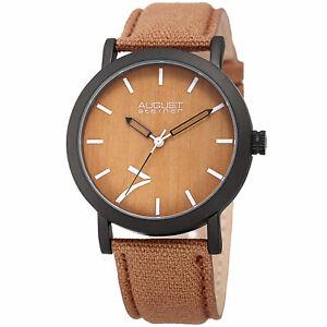 【送料無料】腕時計 シュタイナーシグネチャキャンバスストラップウォッチmens august steiner as8238br signature seven genuine leather canvas strap watch