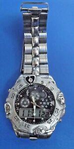 【送料無料】腕時計 エリッククォーツクロノグラフデジタルパイルmontre quartz eric chevillard chronographe, aiguilles digital 42 mm pile neuve