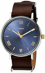 【送料無料】腕時計 メンズレザーストラップウォッチビューカラー
