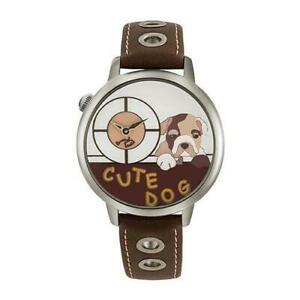 【送料無料】腕時計 シックbraccialini orologio polso donna tua138bu pelle marrone cane 3d cagnolino chic
