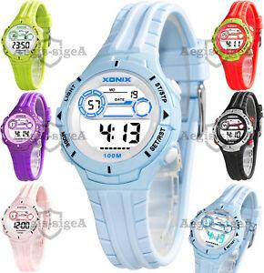【送料無料】腕時計 ストップウオッチアラームウォッチメートルquartz xonix watch, for women and children, stopwatch, alarm, wr100m