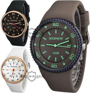 【送料無料】腕時計 アナログファッションウォッチシリコンストラップanalog wristwatch xonix, quartz, fashion, silicone strap, waterproof