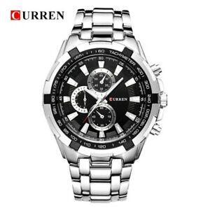【送料無料】腕時計 クォーツトップラグジュアリーフルスチールcurren quartz men watches top luxury men military wrist watches full steel m