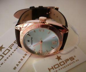 【送料無料】腕時計 フープピンクペレアズーロorologio donna hoops,pvd oro rosa,medium 34 mm,cinturino pelle,quadrante azzurro