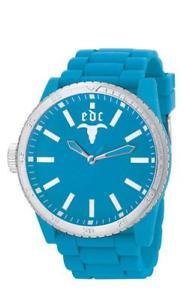 【送料無料】腕時計 ゴムエンベデッドデザインセンターターコイズアナログシリコンクールedc by esprit rubber star cool turquoise ee100831013 analog silikon blau