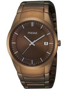【送料無料】腕時計 パルサーブロンズイオンブレスレット×pulsar gents bronze ion plated bracelet watch  ps9155x1pnp