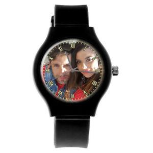 【送料無料】腕時計 パーソナライズカスタムレディーススポーツプレゼントpersonalised custom ladies sport photo wrist watch birthday gift engraving