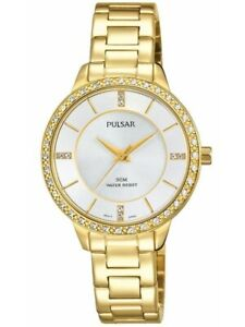 【送料無料】腕時計 パルサーレディーススワロフスキー×pulsar ladies swarovski gold plated watch  ph8218x1pnp