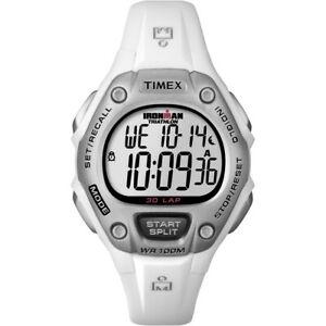【送料無料】腕時計 ラップウォッチtimex ironman 30lap midsize watch white t5k515