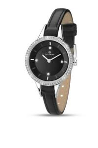 【送料無料】腕時計 レディースストラップladies accurist 8041 contemporary stone set leather strap watch rrp 6499