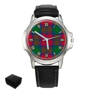 【送料無料】腕時計 タータンチェックlindsay scottish clan tartan wrist watch gift engraving