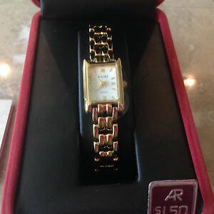 腕時計 アントンレディースクォーツゴールドトーンバッテリーウォッチanton rusano ladies quartz watch gold tone  battery nib wow