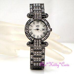 【送料無料】腕時計 ヘマタイトレディスクラシックドレススワロフスキークリスタルウォッチ