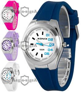 【送料無料】腕時計 シリコンストラップアナログウォッチanalog wristwatch xonix for women and girls, silicone strap, waterproof