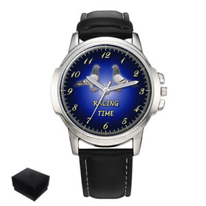 【送料無料】腕時計 レースメンズpigeon racing, dove, taube, paloma bird mens wrist watch engraving