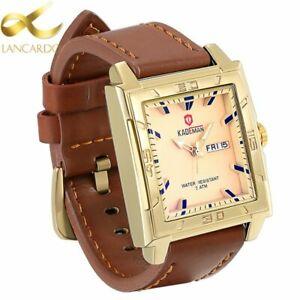 【送料無料】腕時計 トップファッションゴールドスクエアクォーツウォッチ