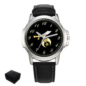 【送料無料】腕時計 メンズshrine shriners masonic gents mens wrist watch gift engraving