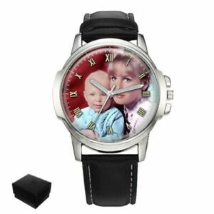 【送料無料】腕時計 パーソナライズカスタムメンズフォトpersonalised custom mens wrist watch your family photo fathers day engraving