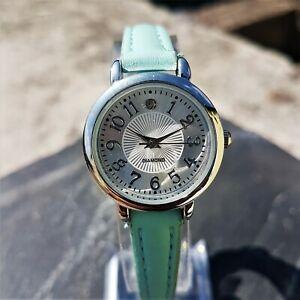 【送料無料】腕時計 アラビアターコイズレザーストラップlovely womens small watch with arabic numerals and turquoise leather strap
