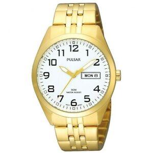 【送料無料】腕時計 パルサー×pulsar gents gold plated watch pv3006x1pnp