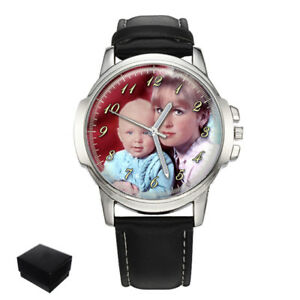 【送料無料】腕時計 パーソナライズカスタムメンズウォッチpersonalised custom gents mens wrist watch family photo engraving fathers day